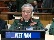 Une délégation vietnamienne à la conférence de maintien de la paix de l'ONU