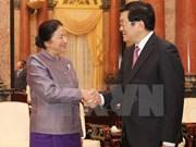 Truong Tan Sang reçoit des délégués de l'IPU-132
