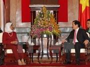 Vietnam et Singapour renforcent la coopération parlementaire