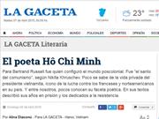 Ho Chi Minh, présent pour l'éternité, selon La Gaceta de l'Argentine
