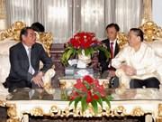 Le Hong Anh reçu par les dirigeants du Parti et de l'Etat laotiens