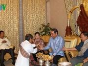 Un baci en l'honneur de Le Hong Anh à Vientiane