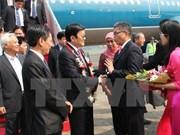 Le Président Truong Tân Sang arrive à Jakarta