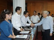 Le secrétaire général Nguyen Phu Trong en visite de travail à Lang Son
