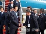 Le Premier ministre Nguyen Tan Dung arrive en Malaisie
