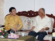Activités du président Truong Tan Sang au Laos