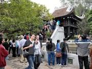 Légère hausse du nombre de touristes étrangers à Hanoi