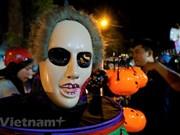 Les jeunes de Hanoï participent au carnaval d'halloween 2019