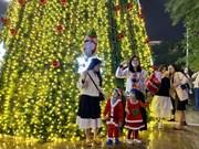 L'ambiance de Noël animée et chaleureuse au Vietnam