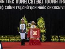 Cérémonie de déplacement du cercueil du président Trân Dai Quang