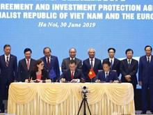 Cérémonie de signature de l'Accord de libre échange entre le Vietnam et l'Union européenne