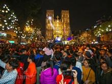 Ambiance de Noël à Hanoï