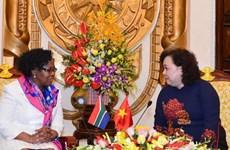 Hanoi et Johannesburg échangent des expériences sur la protection des femmes