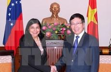 Pham Binh Minh reçoit la ministre vénézuelienne pour les Relations extérieures