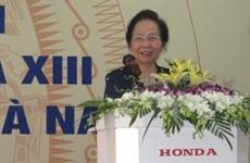La vice-présidente Nguyên Thi Doan rencontre des électeurs de Hà Nam
