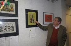 Présentation d'une collection d'estampes populaires de Dông Hô à Paris