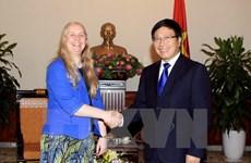 Le vice-PM Pham Binh Minh reçoit une vice-ministre néo-zélandaise