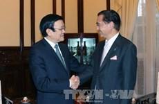 Le chef de l'État reçoit le gouverneur de la préfecture japonaise de Kanagawa