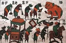 Le bois pour révéler les peintures folkloriques