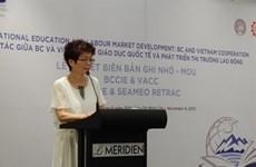Coopération éducative et développement du marché du travail Vietnam-Colombie britannique