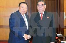 Rencontre de hauts membres des Partis vietnamien et laotien
