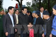 Le président Truong Tan Sang en tournée dans la province de Ha Giang