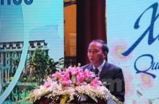 Vinh Phuc rencontre des Vietnamiens à l'étranger