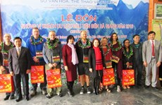 Ha Giang accueille ses premiers visiteurs étrangers de l'année 2016