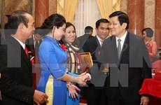 M. Truong Tan Sang rencontre les représentants des PME