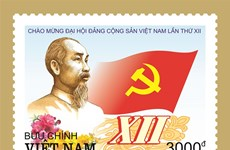 Emission d'une collection de timbres en l'honneur du 12e Congrès national du PCV