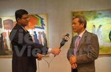 Exposition de peintures vietnamiennes en Inde