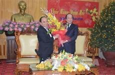 Le vice-Premier ministre Nguyên Xuân Phuc formule des vœux du Têt à Hà Nam