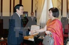 Le président Truong Tan Sang promeut le développement des relations Vietnam-Inde