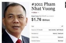 Un Vietnamien dans le classement mondial des milliardaires en 2016
