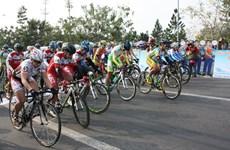 Départ de la course cycliste internationale féminine de Binh Duong 2016