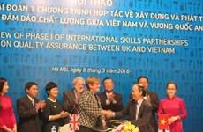 Vietnam et Royaume-Uni coopèrent dans la formation professionnelle