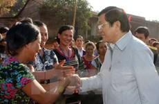 Le président Truong Tan Sang visite la province de Dak Nong
