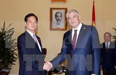 Le Premier ministre reçoit le ministre russe de l'Intérieur