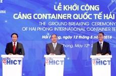 Le PM lance la construction du port international à conteneurs de Hai Phong