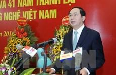 Le président Tran Dai Quang appelle les chercheurs à contribuer au développement national