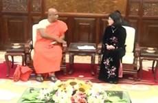 La vice-présidente du Vietnam reçoit des amis sri lankais