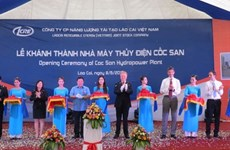 Inauguration d'une centrale hydroélectrique de 50 millions de dollars à Lao Cai
