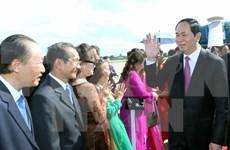 Le président du Vietnam termine sa visite d'Etat au Laos