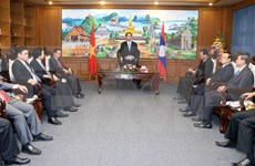 Le président du Vietnam en visite à Champassak (Laos)