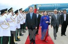 Cérémonie d'accueil officielle du Président Trân Dai Quang au Cambodge