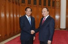 Le Premier ministre reçoit le ministre laotien du Plan et de l'Investissement