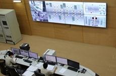 Raccordement du turboalternateur N°2 de la centrale hydroélectrique de Lai Chau