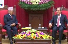 Le PCV fait grand cas des relations avec le Parti communiste du Népal (marxiste-léniniste unifié)