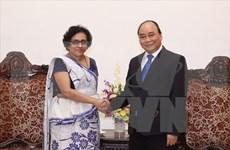 L'ambassadrice sri lankaise reçue par Nguyen Xuan Phuc