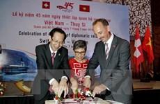 Célébration des 45 ans des relations Vietnam-Suisse à Hô Chi Minh-Ville
